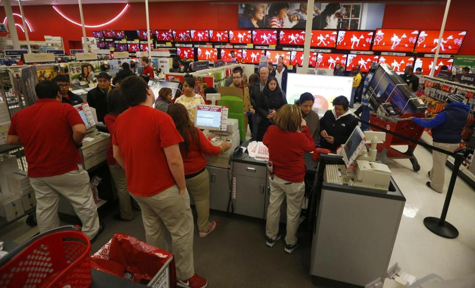 Customers shopped at a Chicago Target on Nov. 28, 2013.