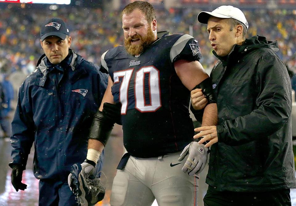 Logan Mankins was known to play in pain. Photo by Jim Rogash/Getty Images