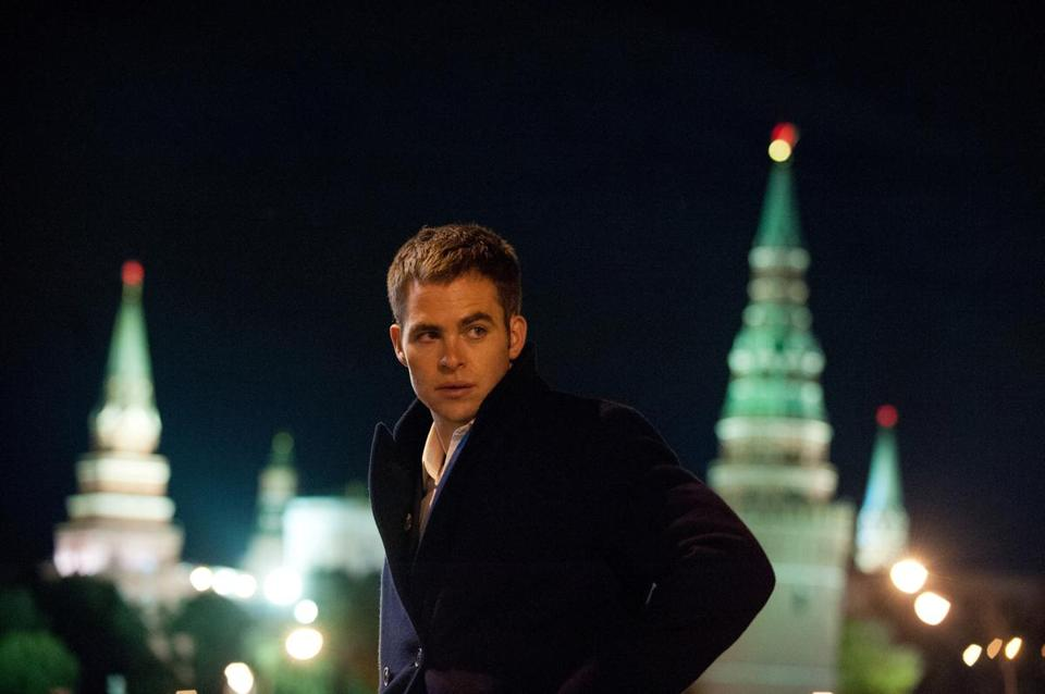 "Chris Pine in the upcoming film ""Shadow Recruit."""