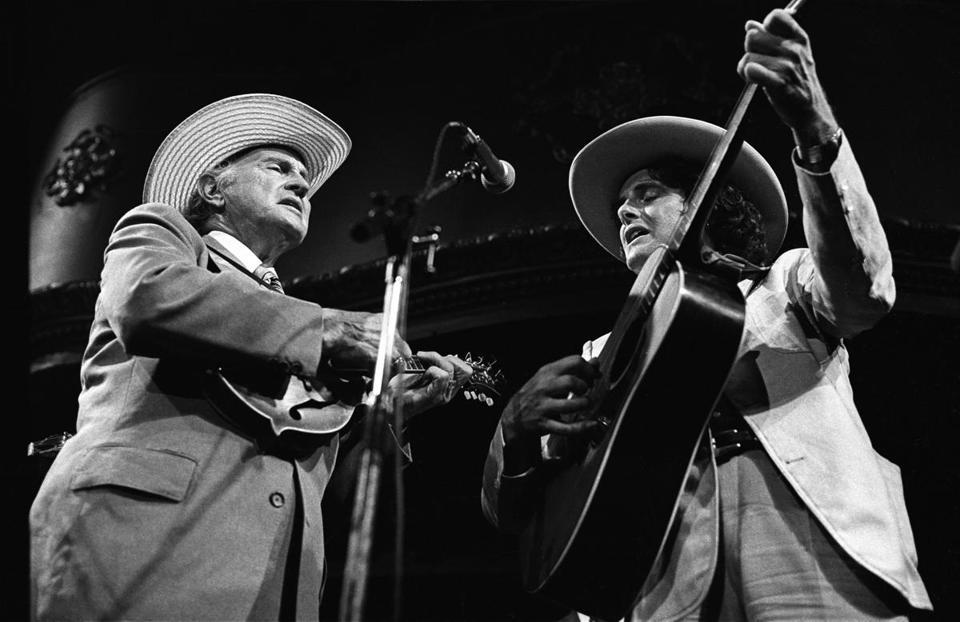 Bill Monroe and Peter Rowan play the Great American Music Hall in San Francisco in 2003.