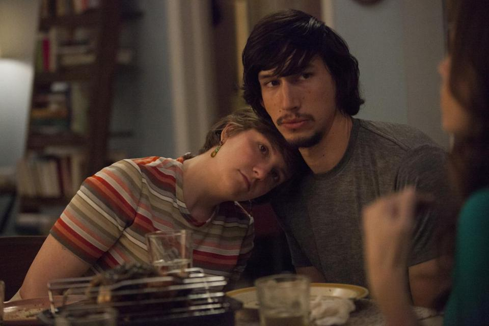 "Clockwise from top: Lena Dunham, Adam Driver, Allison Williams and Jemima Kirke in the 20-something drama ""Girls."""