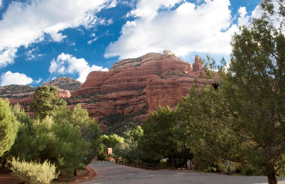 A view in Sedona, from Enchantment resort at Boynton Canyon.