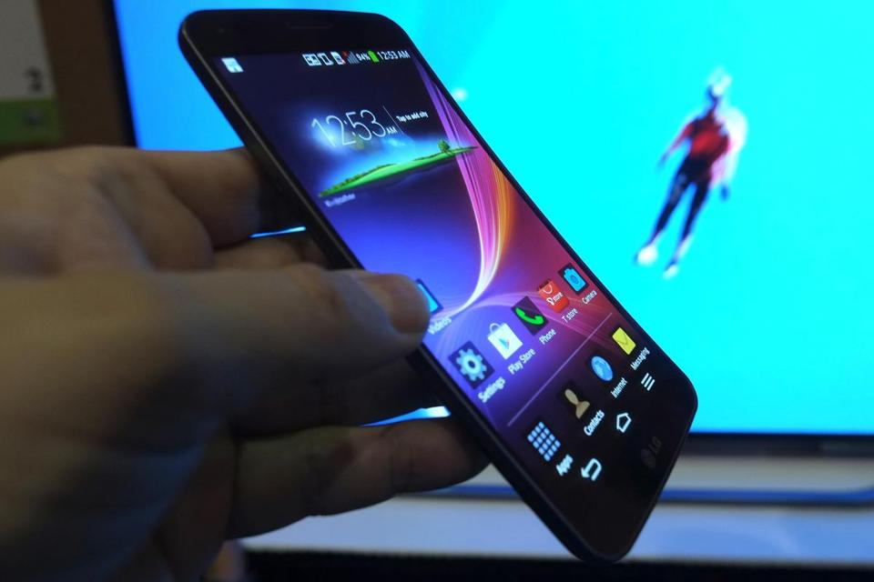 The LG G Flex phone is being featured at CES, the nation's largest consumer electronics show.