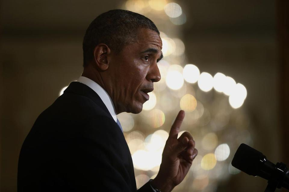 "Of the measure, President Obama said, ""We've got to get this across the finish line without obstruction or delay."""