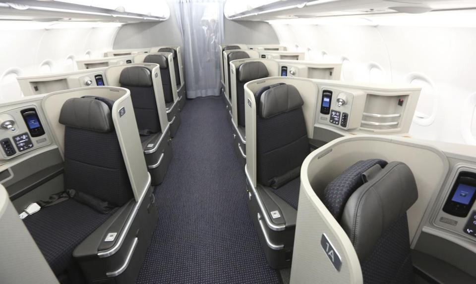 At an American Airlines  facility in Grapevine, Texas, the interior of a new aircraft was on display. Airlines worldwide have been purchasing new planes, in part to save on fuel costs.