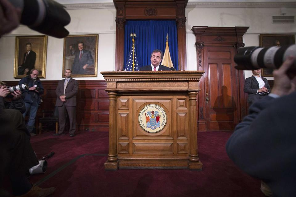 New Jersey Governor Chris Christie made a statement and answered reporters' questions for two hours on Thursday.