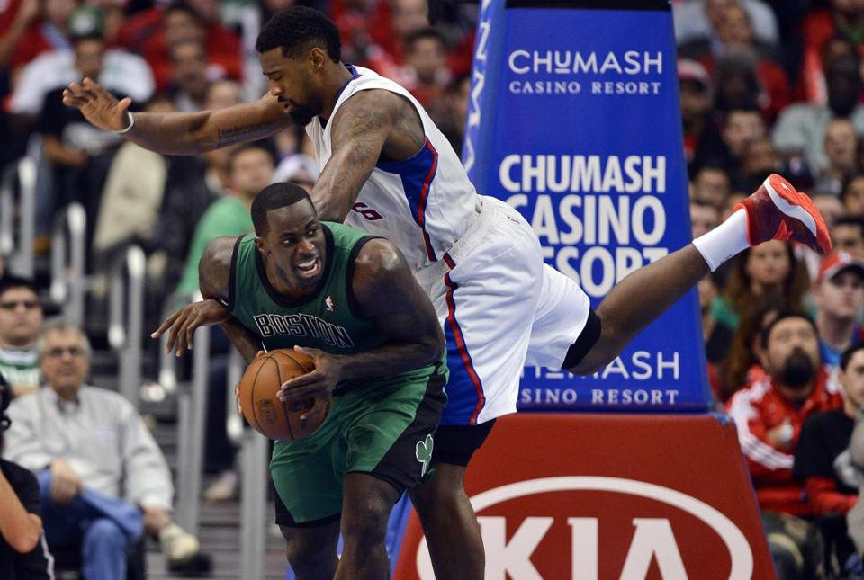 Brandon Bass drew a foul from the Clippers' DeAndre Jordan on Wednesday night.