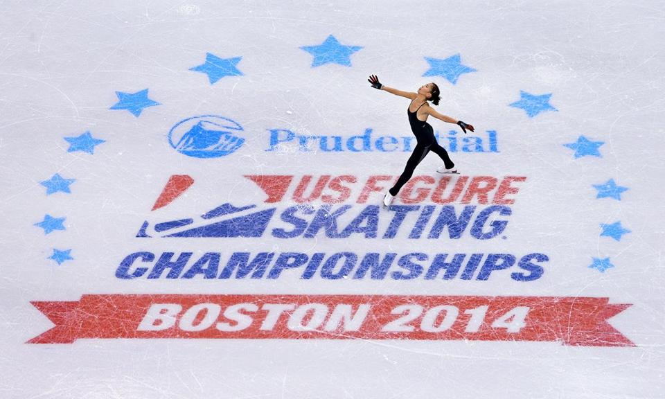 Joelle Forte practiced Wednesday for the US Figure Skating Championships, being held at the TD Garden.