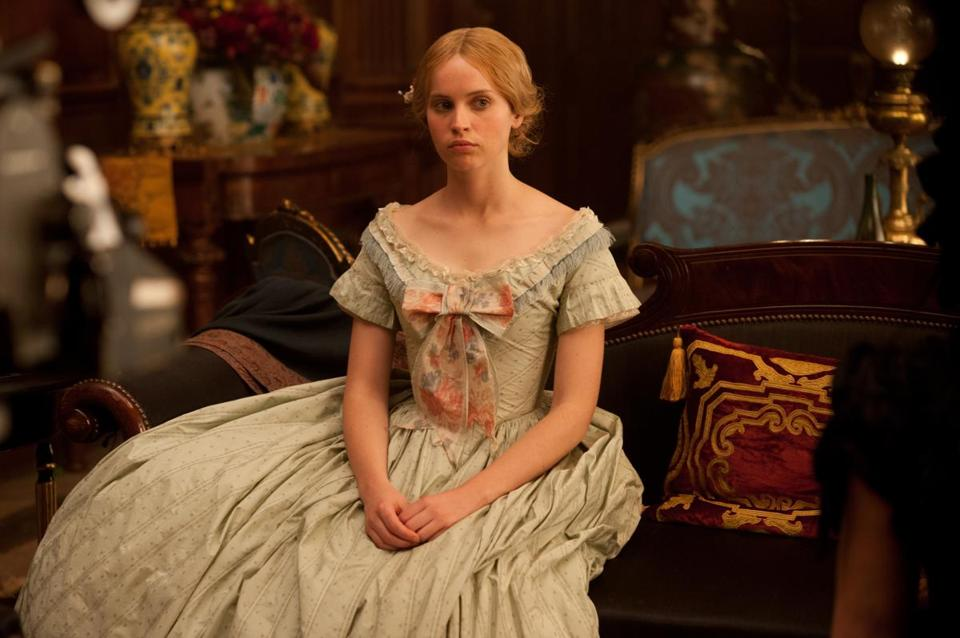 Felicity Jones plays Nelly Ternan, the young actress  who became Charles Dickens's mistress.