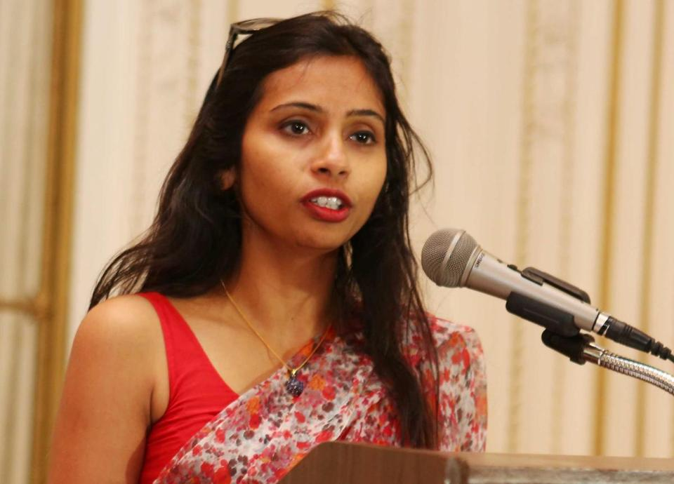 Devyani Khobragade is accused of exploiting her Indian-born housekeeper and nanny, allegedly having her work more than 100 hours a week for low pay and lying about it on a visa form.