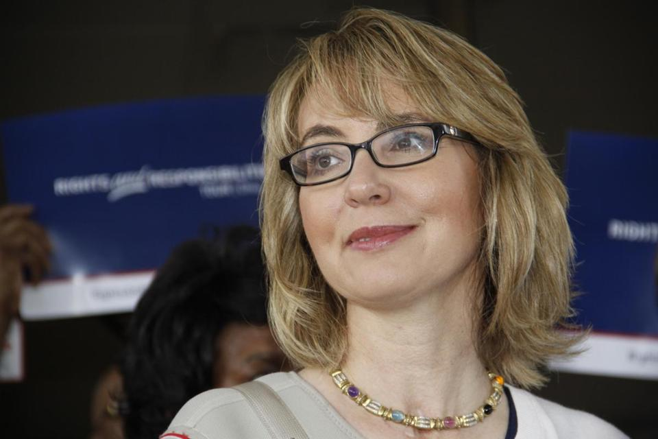 Former US Representative Gabrielle Giffords of Arizona talked to supporters in a Cincinnati suburb last year.