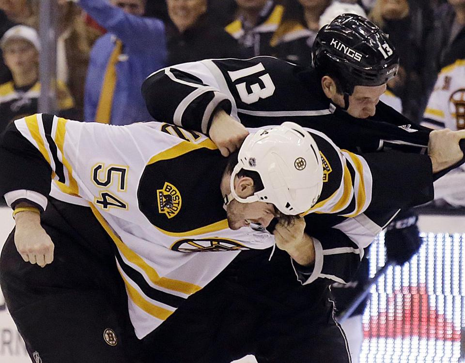 Adam McQuaid and Kyle Clifford fought in the second period.