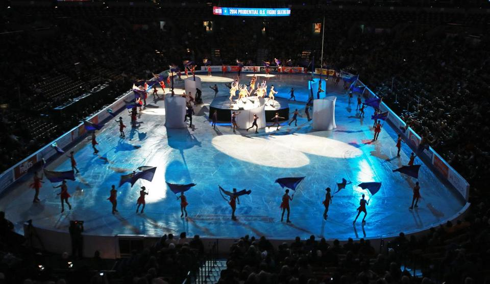The opening ceremony for the US Figure Skating Championships at TD Garden showcased Olympic hopefuls vying for tickets to next month's Sochi Games.