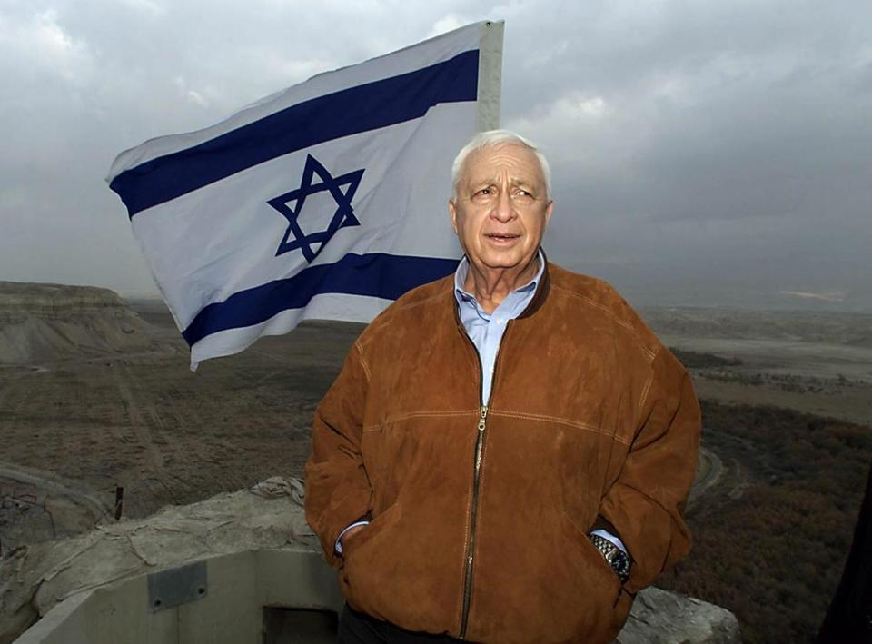Ariel Sharon visited an Israeli Army position in the Jordan Valley in 2001. The former prime minister died Jan. 11.
