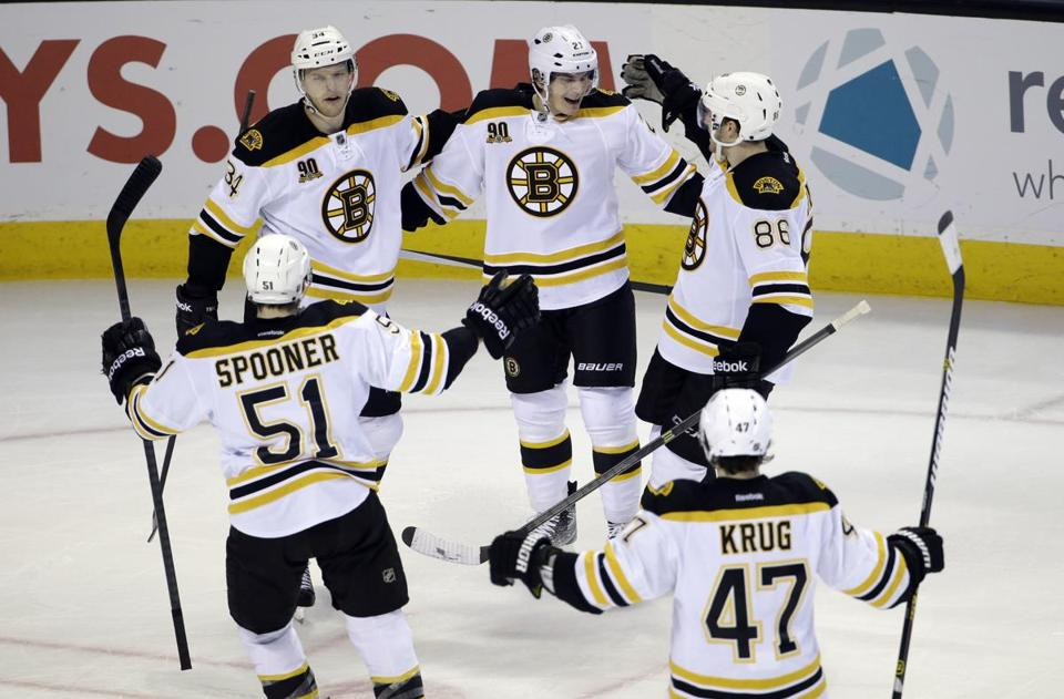 On the strength of Carl Soderberg's late goal, the Bruins earned a 1-0 win at the SAP Center, allowing for a much more pleasant plane ride back to Boston on Sunday.