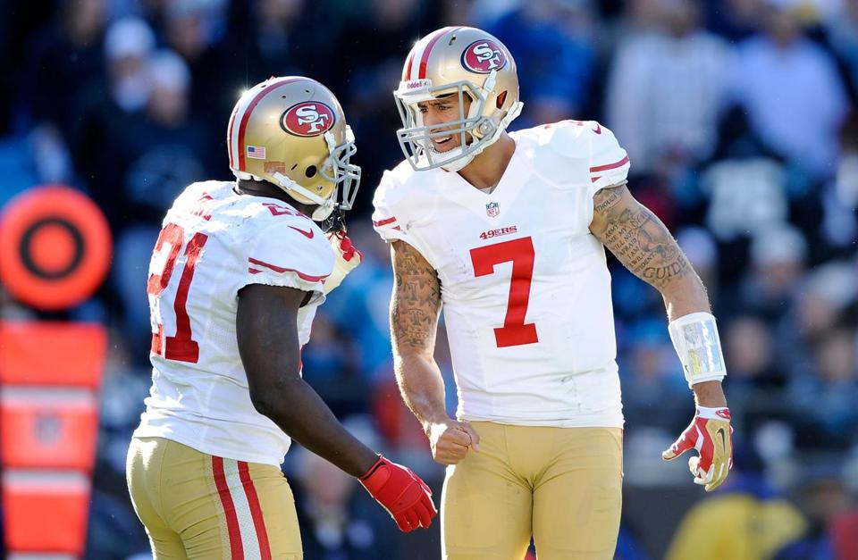Frank Gore and Colin Kaepernick were integral parts of the 49ers' offense against the Panthers.