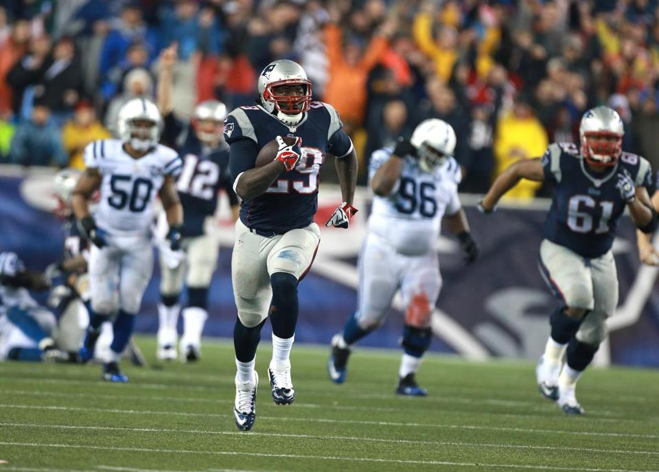 LeGarrette Blount's four rushing touchdowns set a team record.