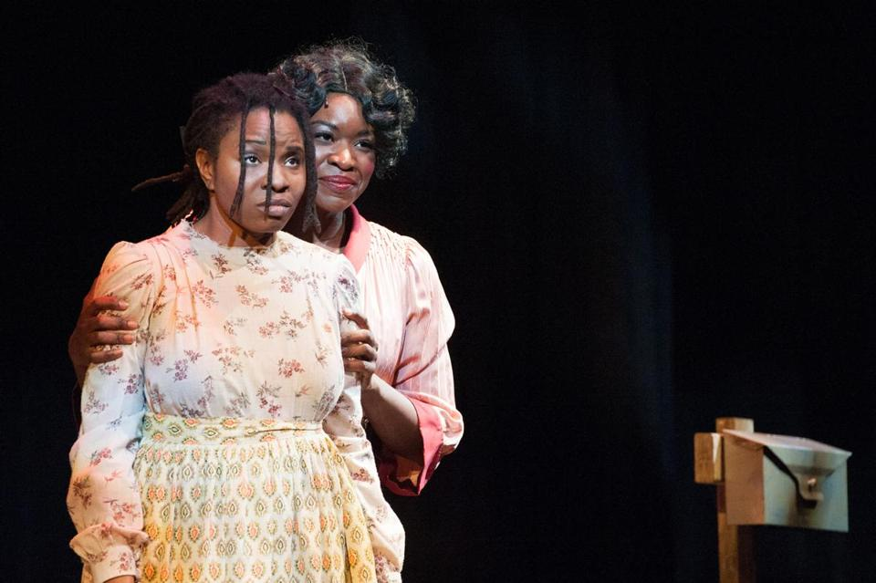 "Lovely Hoffman (left) as Celie and Crystin Gilmore as Shug Avery in ""The Color Purple."""