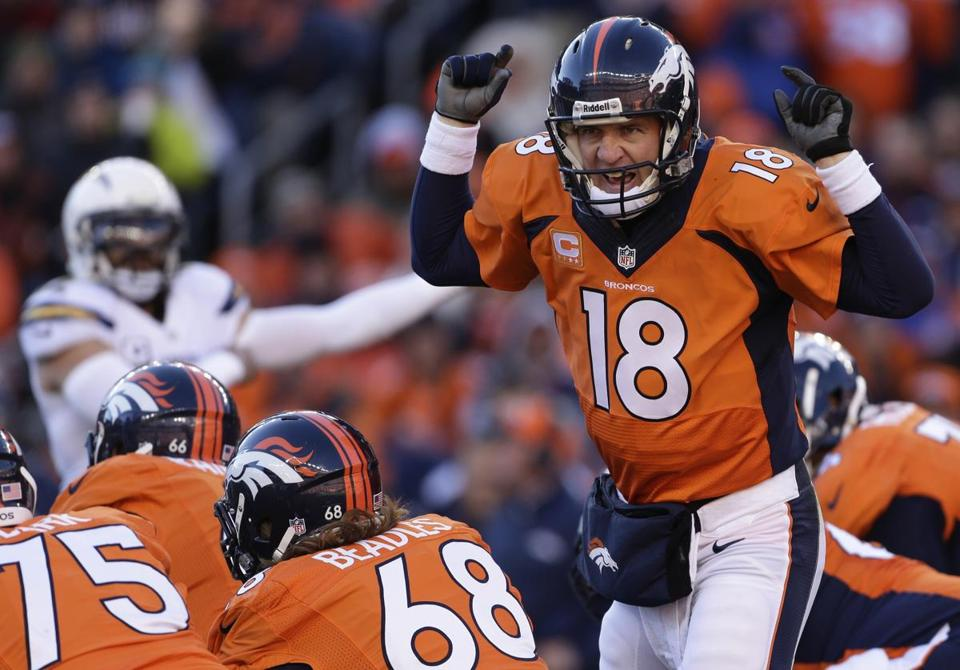 Peyton Manning hasn't faced the Patriots in the playoffs since the 2006 AFC title game.