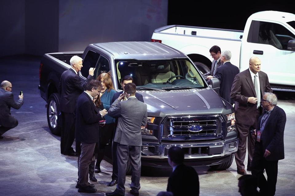 The new Ford F-150 was unveiled Monday at the North American International Auto Show in Detroit.
