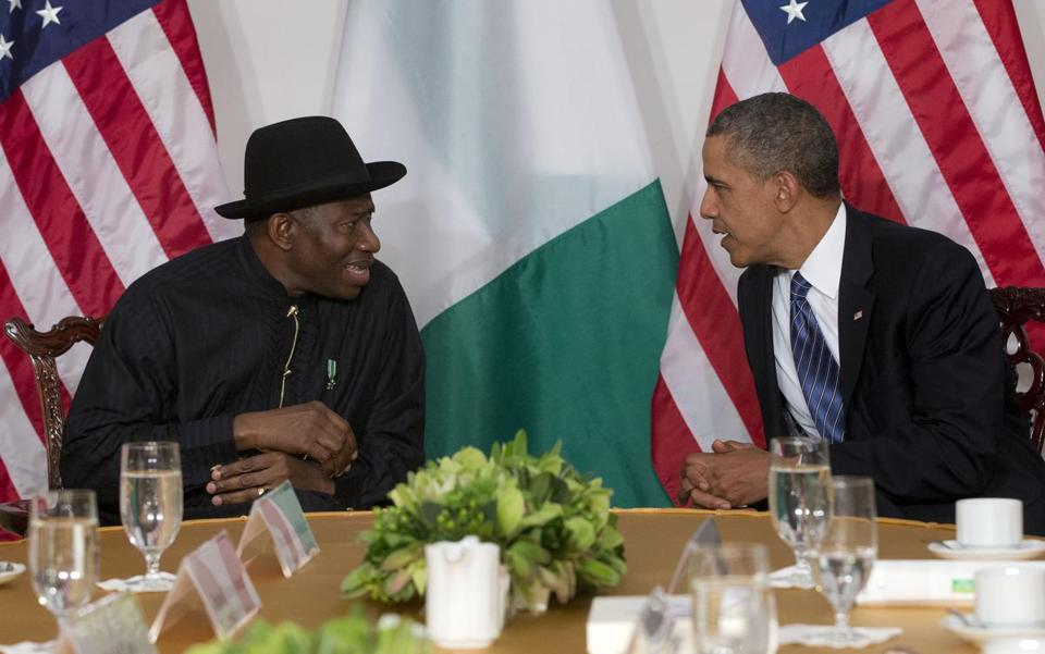 President Obama met with Nigerian President Goodluck Jonathan in New York late last year.