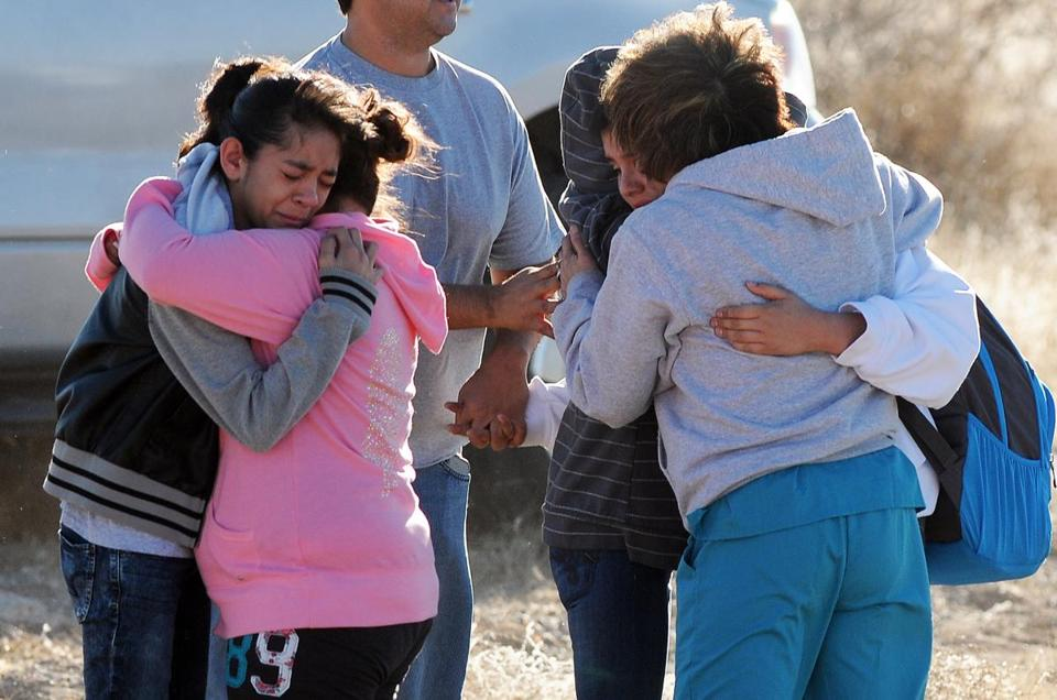 Students were reunited with family following a shooting at a middle school Tuesday in Roswell, N.M.