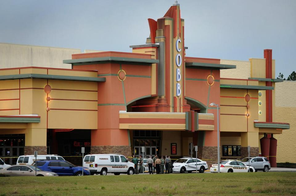 Police surrounded a movie theater in Wesley Chapel, Fla., on Monday.