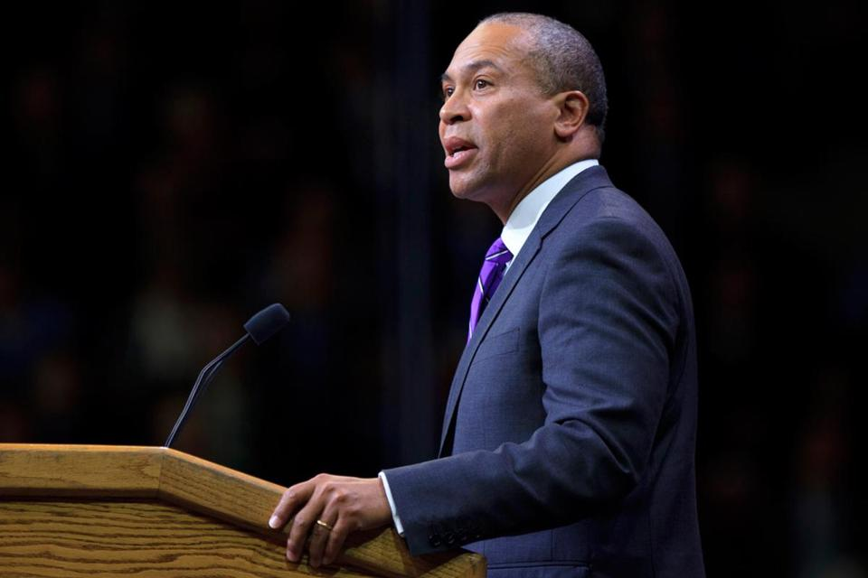 Governor Deval Patrick (above) and Highway Administrator Frank DePaola both have the power to order lanes or roadways closed, a power they have used on rare occasions.