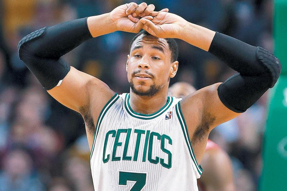 The frustration shows on the face of Jared Sullinger as the Celtics are about to lose for the ninth straight time.