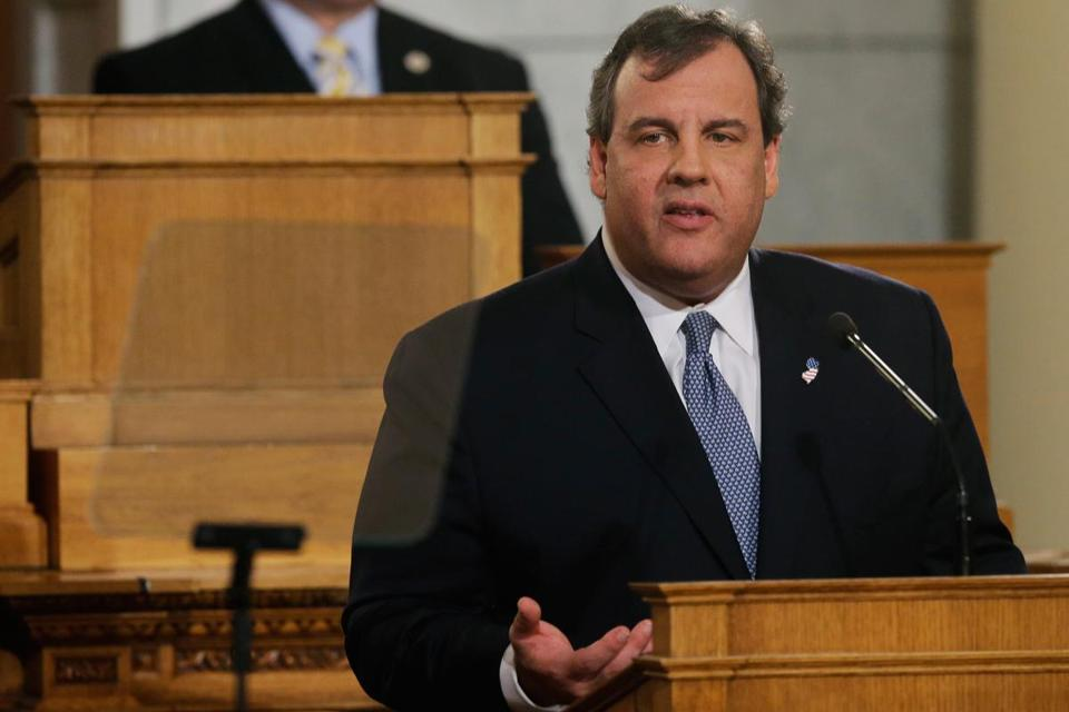 """I know our citizens deserve better. Much better,"" said New Jersey Governor Chris Christie in his State of the State address."
