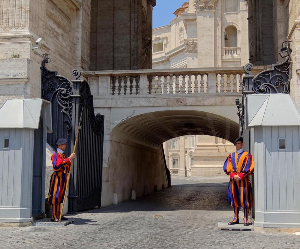 The colorful Swiss Guards.