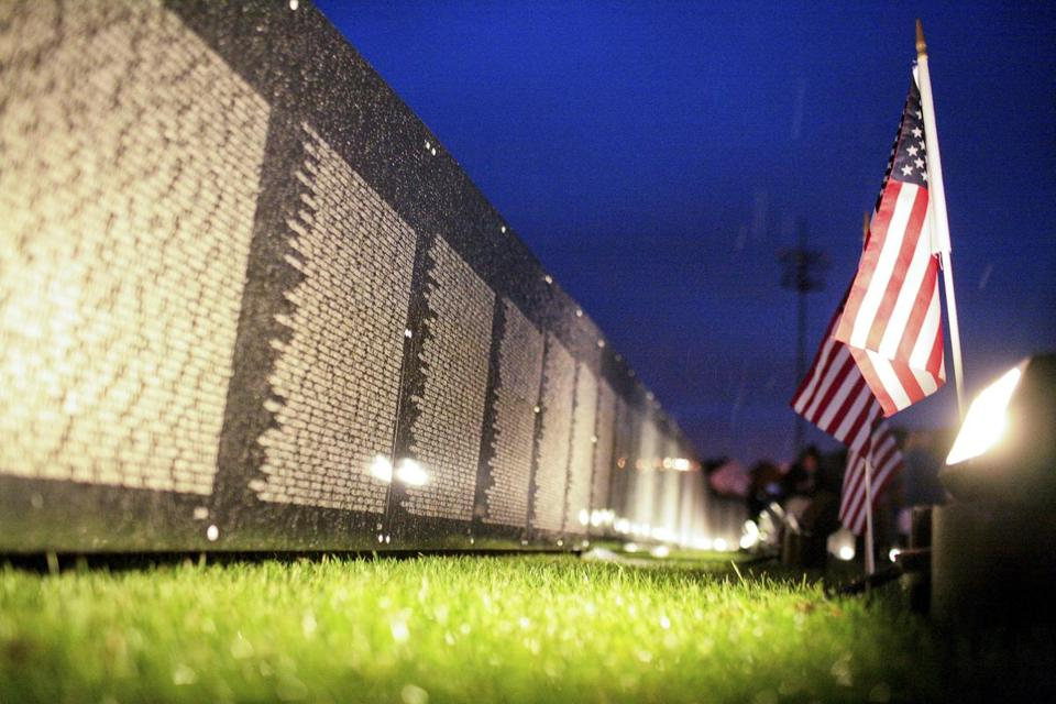 """The Wall that Heals"" during its 2009 stopover in Lynn."