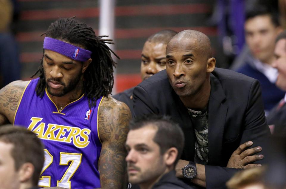 Kobe Bryant has been on the sidelines for the Lakers with a knee injury.