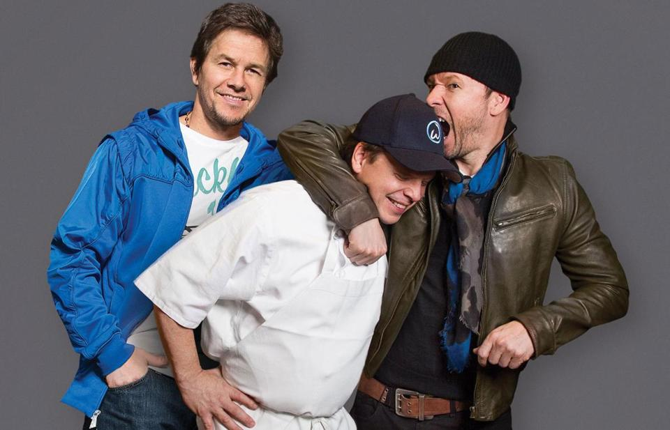 From left: Mark, Paul, and Donnie Wahlberg.