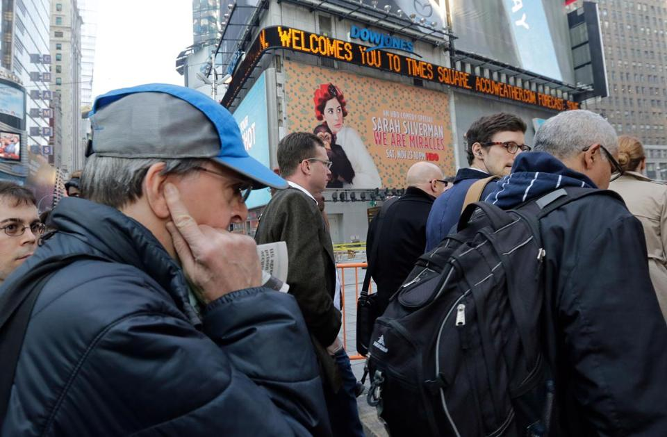Times Square is among the noisiest places in New York, some say. Noise is the top quality of life issue in the city.