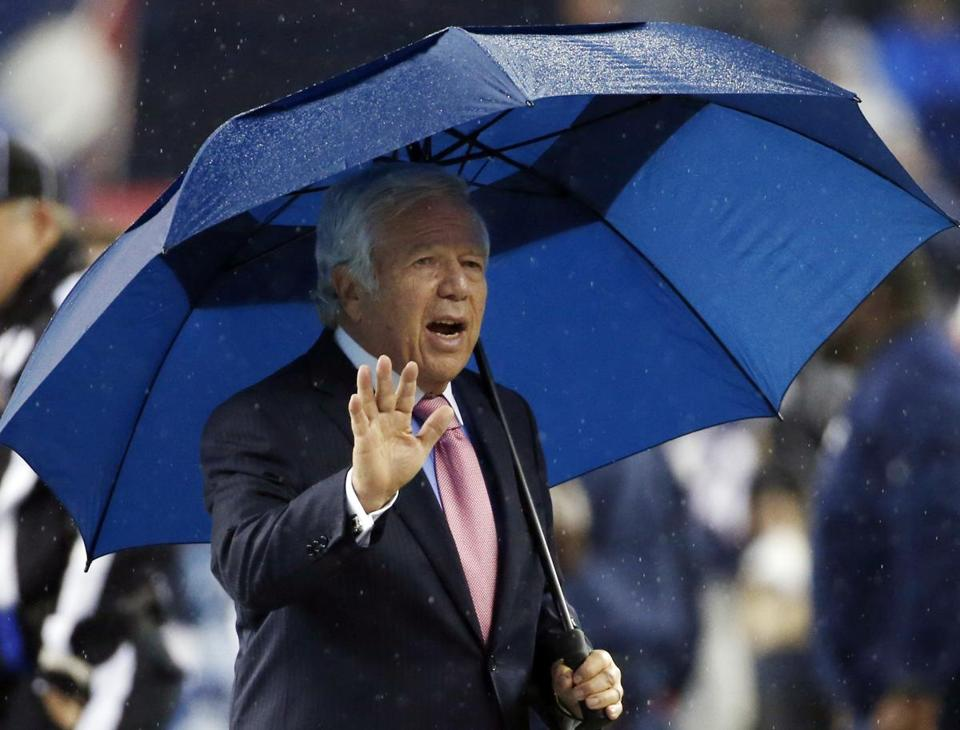 Patriots owner Robert Kraft said he hopes Julian Edelman and Aqib Talib will return to the team in 2014.