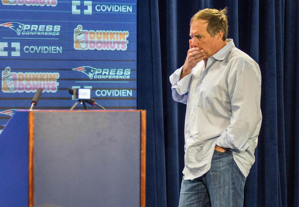 Bill Belichick was back in Foxborough on Monday morning to discuss the end of the Patriots' season.