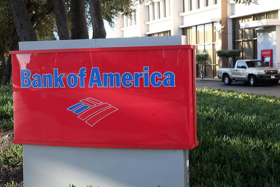 Bank of America waives a $12 monthly checking account maintenance fee if customers direct deposit at least $250 each month.