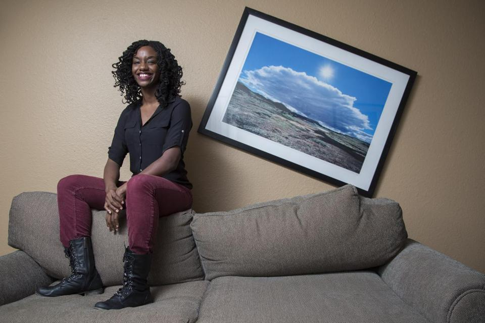 January 19, 2014 Los Angeles, CA Alexis Wilkinson will become one of the two female Harvard College students picked to run the Harvard Lampoon and the first African-American female in the position. photo by Jonathan Alcorn for The Boston Globe