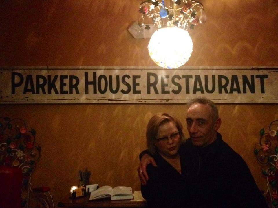 Adam Adler and his wife, Alexandra La Noue-Adler, at The Parker House Inn, which they own and operate, in Quechee, Vermont.