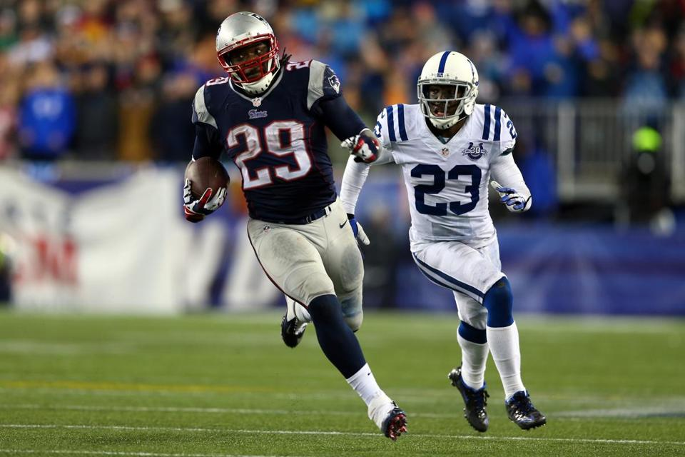 LeGarrette Blount had a big day against the Colts.. (Photo by Elsa/Getty Images)