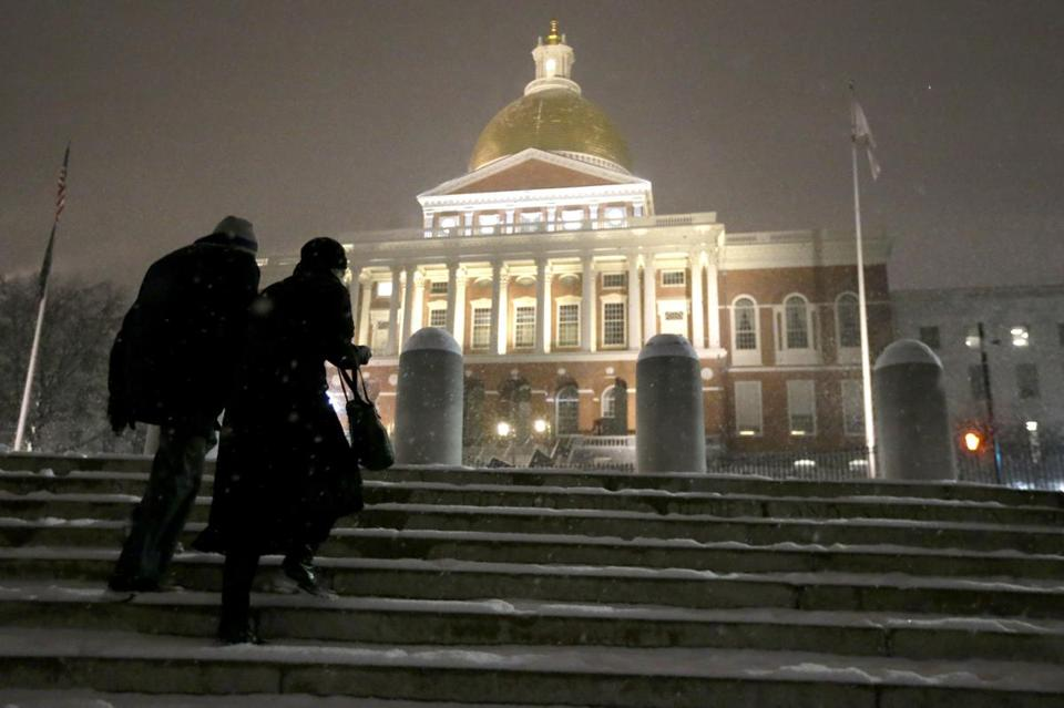 The Massachusetts State House on Beacon Hill.