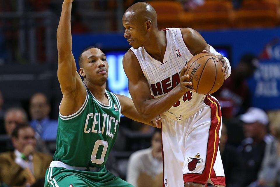 Celtics guard Avery Bradley left the game against the Heat in the second quarter.