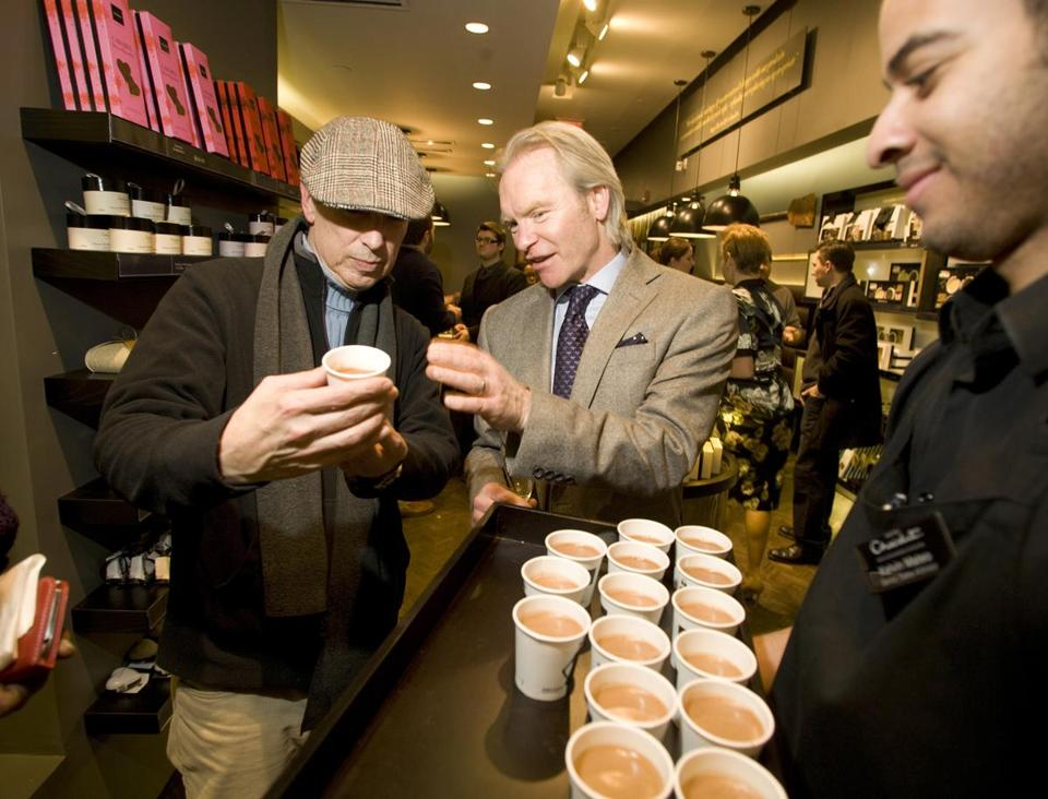 Hotel Chocolat cofounder and CEO Angus Thirlwell was serving up treats to the crowd.