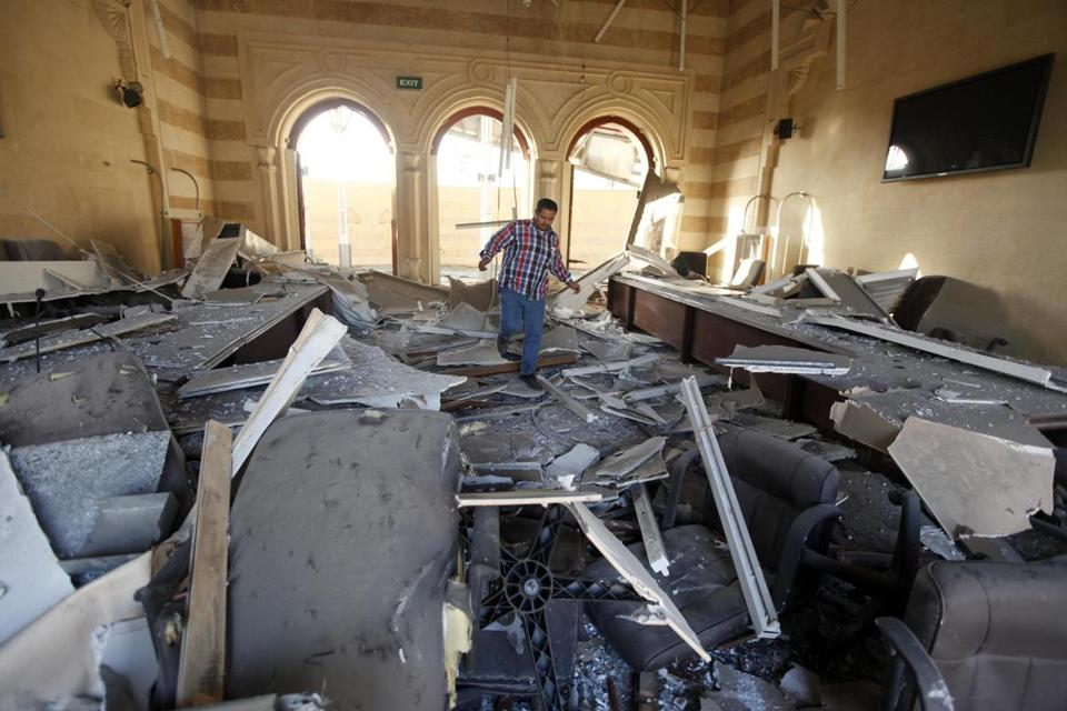 The Islamic Art Museum was damaged by a bomb attack in downtown Cairo Friday.