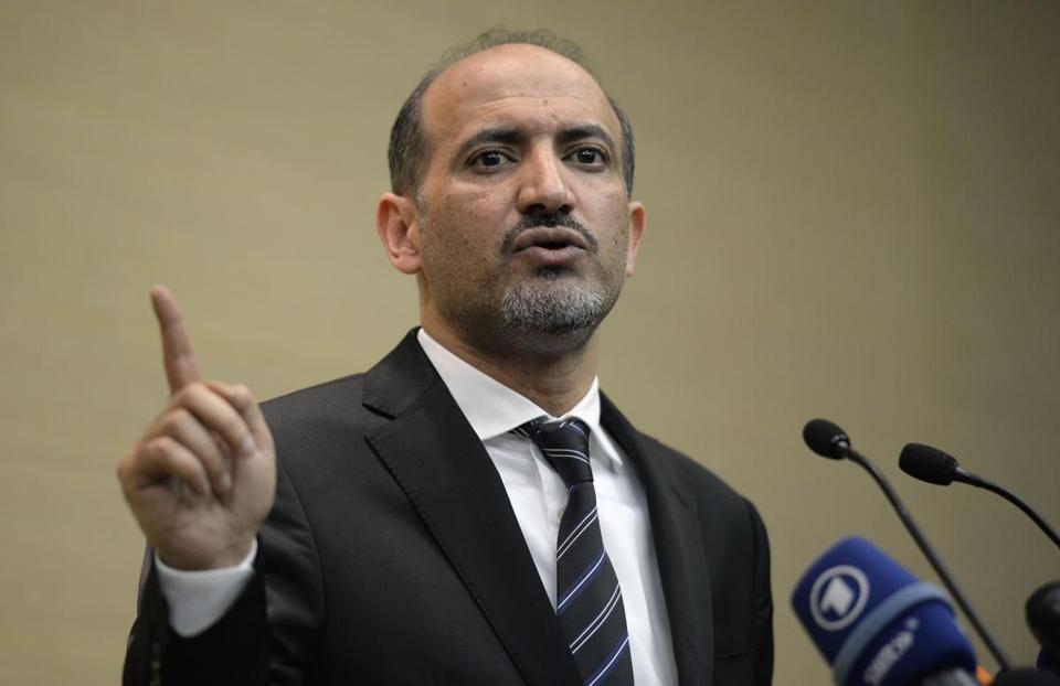 ''The road to negotiations has begun,'' opposition chief Ahmad al-Jarba told reporters on Thursday, even as he described President Bashar Assad as ''part of the past.''