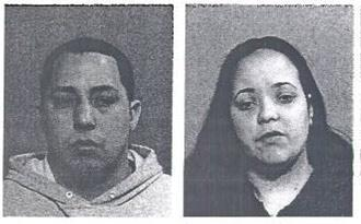 The suspects pictured above: Jose O. Carrasquillo (left), 32, and Jennifer Rodriguez, 30.
