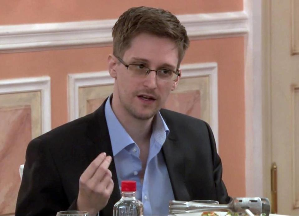 Former National Security Agency systems analyst Edward Snowden in a video released by WikiLeaks Oct. 11, 2013.