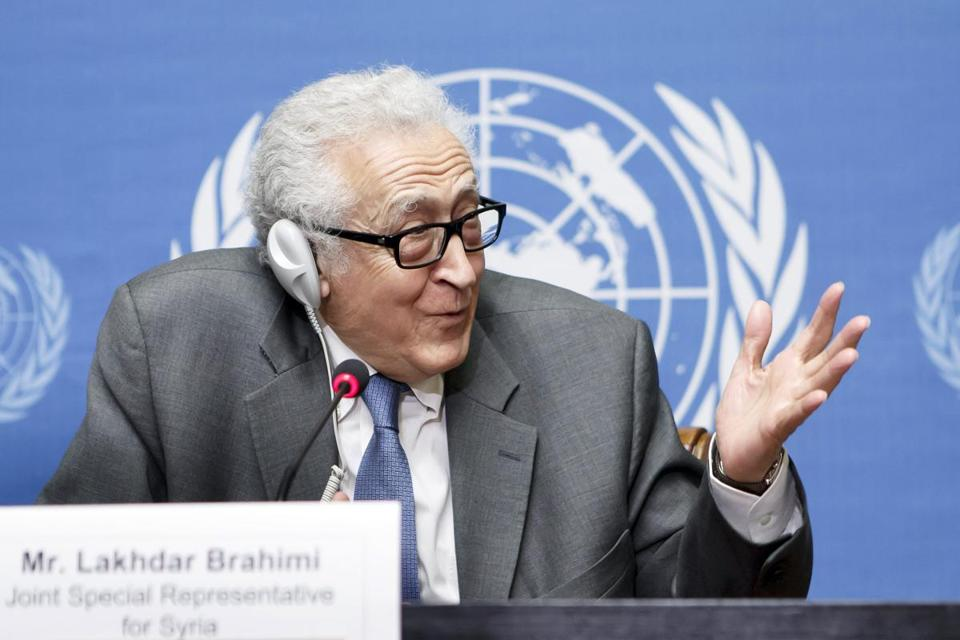 """The convoy is ready,"" UN special envoy Lakhdar Brahimi said Saturday, referring to shipments of food for Homs."