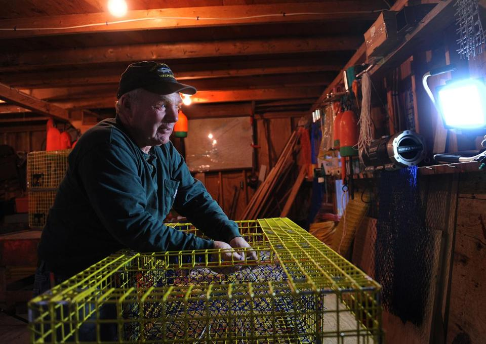 """It could have been bankruptcy, if something major had happened. . . . You can see your whole life and your whole family fall totally apart,"" said Arnold Gamage, a lobsterman in Maine. His old monthly premium was $800. It's now $480."